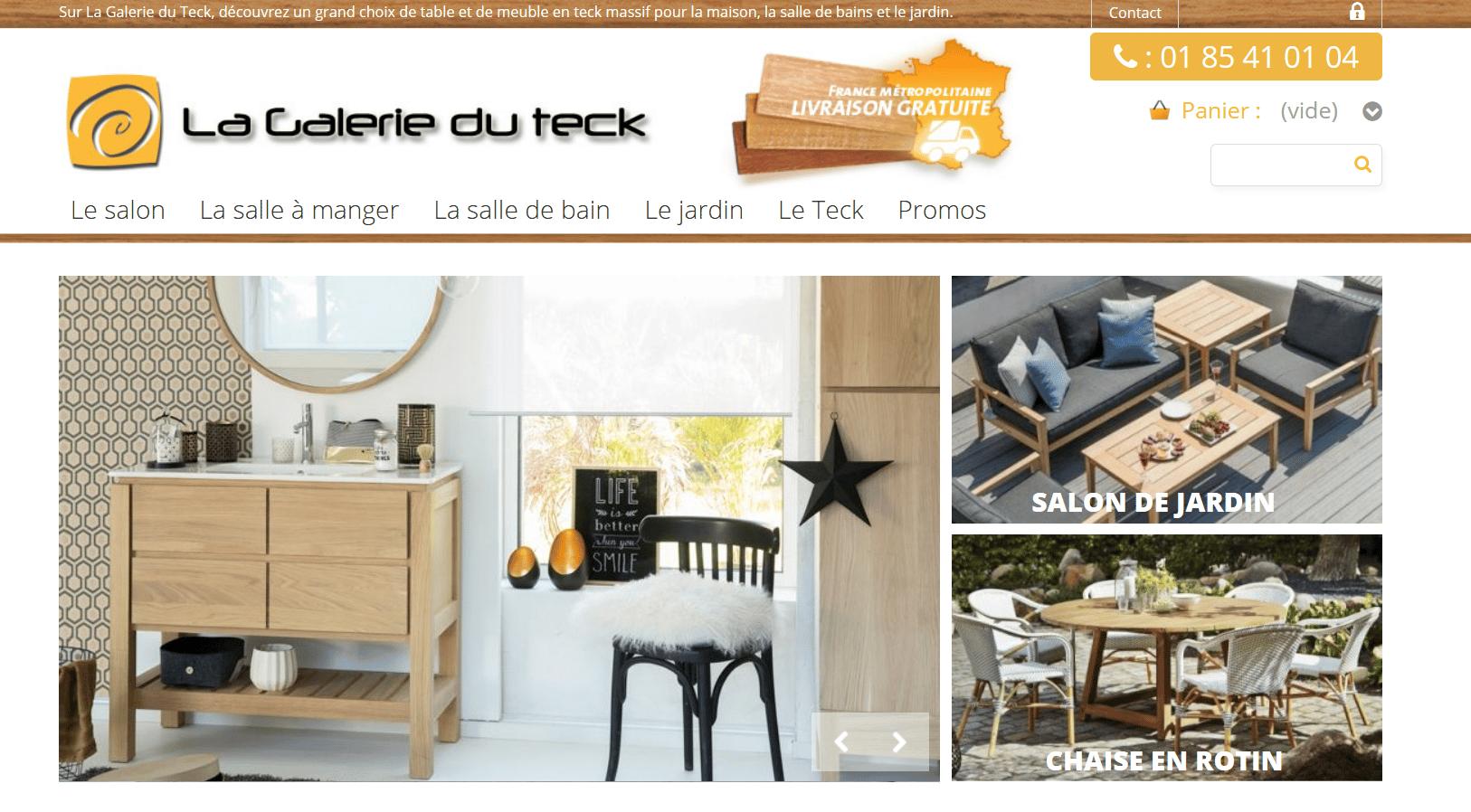 La galerie du teck sp cialiste des meubles en teck top societes - La galerie du meuble contemporain ...
