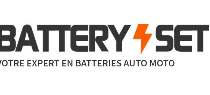 Logo de la société BatterySet spécialiste des batteries pour tous véhicules